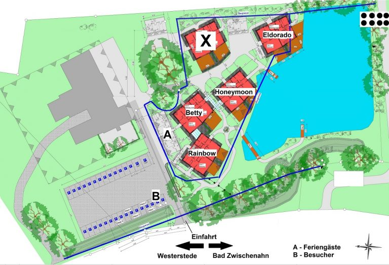 Lageplan Residenz der Ferienwohnungen